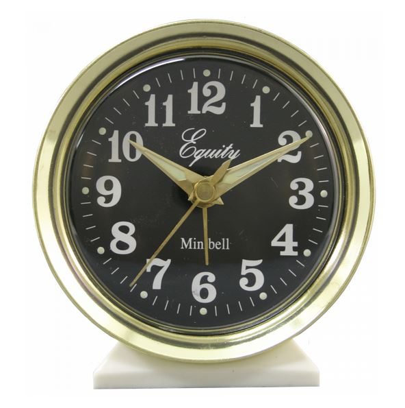 Equity® 12020 Analog Keywind Alarm Clock with Loud Bell Alarm