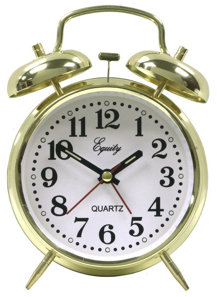 Equity® 13012 Analog Keywind Loud Twin Bell Alarm Clock
