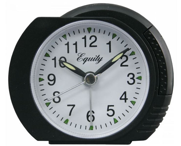 Equity® 27001 Analog Alarm Clock with  Black Case & Lighted Dial