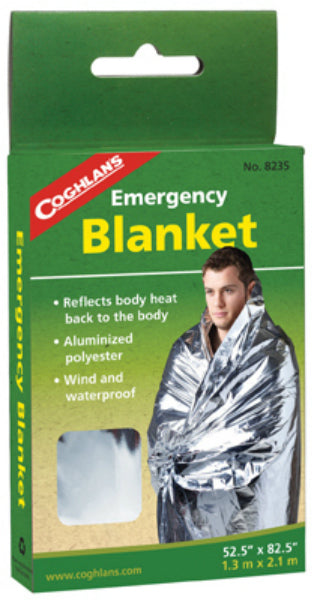 "Coghlan's 8235 Emergency Blanket, Aluminized Non-Stretch Polyester, 82.5"" x 52"""