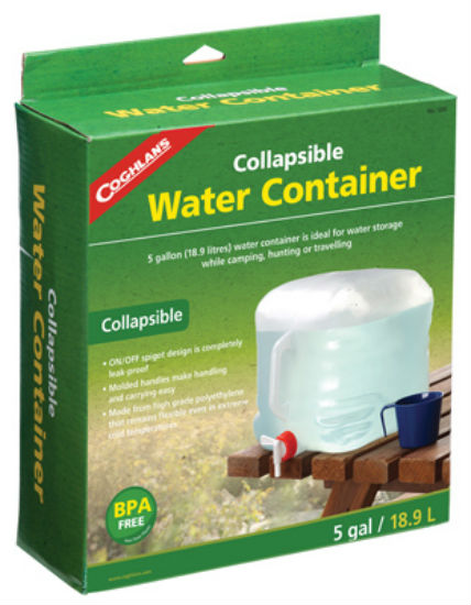 Coghlan's 1205 Collapsible Water Container, 5 Gallon, Plastic