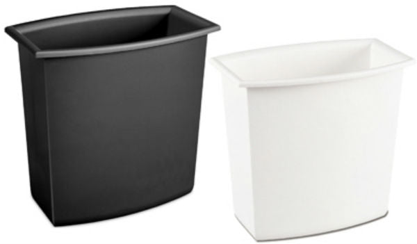 Sterilite 10220012 Rectangular Vanity Wastebasket, Assorted Colors, 2-Gal, 1-Qty