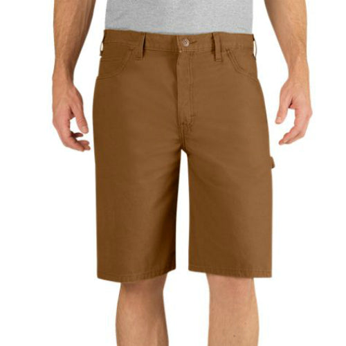 "Dickies® DX250RBD38 Relaxed Fit Lightweight Duck Carpenter Short, 38"", Brown"