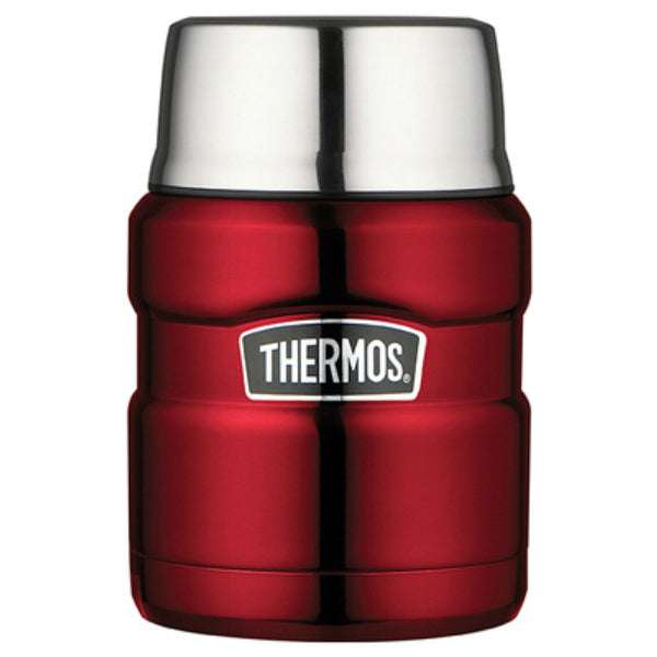 Thermos® SK3000CRTRI4 Vacuum Insulated Stainless King™ Food Jar, Cranberry, 16 Oz