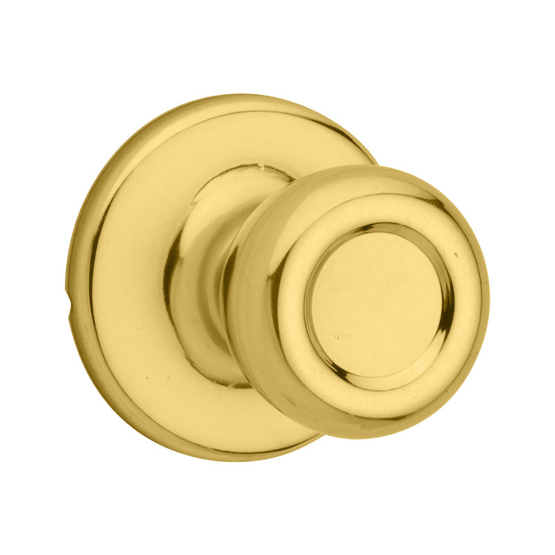 Kwikset® 200T-3 Passage/Hall/Closet Knob Lockset, Polished Brass