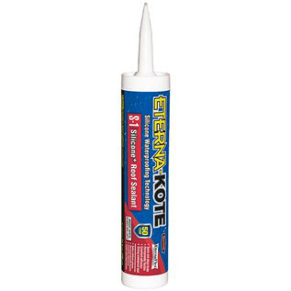 Eterna-Kote® 5575-1-61 Silicone+ S-1 Roof Sealant, 10 Oz, White