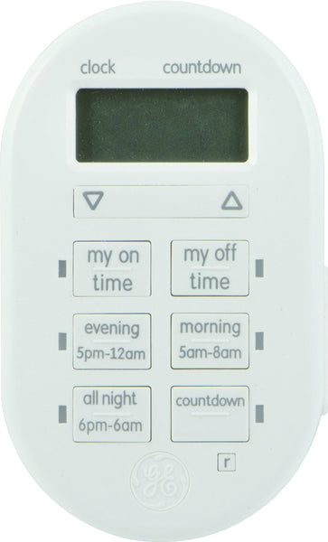 GE 26892 MyTouchSmart™ Indoor Plug-In Digital Timer, 125V/60Hz