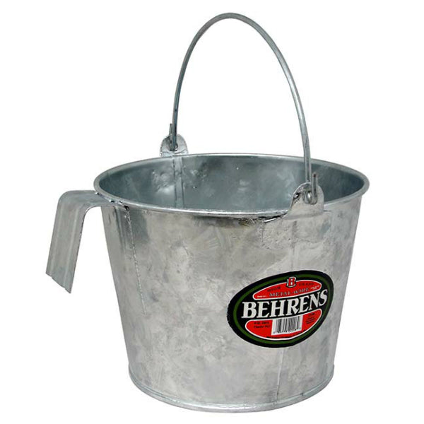 Behrens CP188 Hot Dipped Steel Calf Pail with Bracket & Bail, 8 Qt