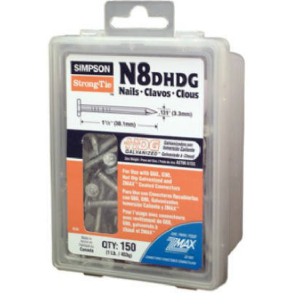 "Simpson Strong-Tie N8DHDG-R Strong-Drive Connector Nail, 1-1/2"", 1 Lb"