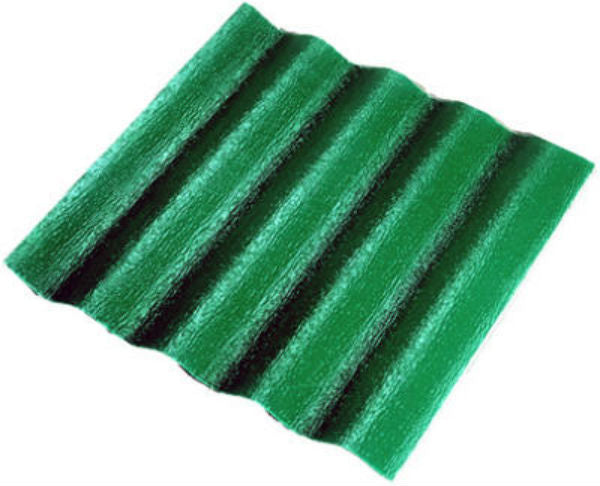 "Crane Composites C25TF.131 WeatherGlaze® Corrugated Fiberglass Panel, 26"" x 8', Green"