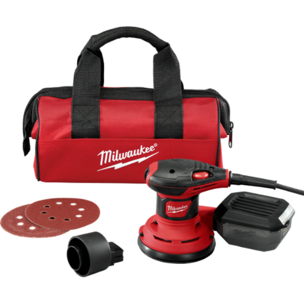 Milwaukee® 6034-21 Random Orbit Palm Sander, 3 Amp, 5""