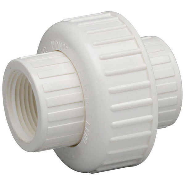 Homewerks® 511-44-112-112B PVC Schedule 40 Threaded Union, FIP x FIP, 1-1/2""