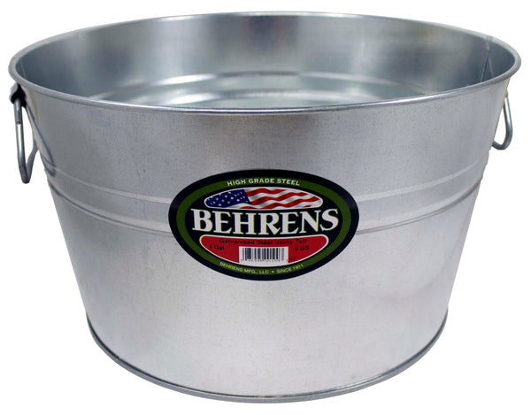 Behrens 0GS Durable Galvanized Round Steel Round Tub, 5-Gallon