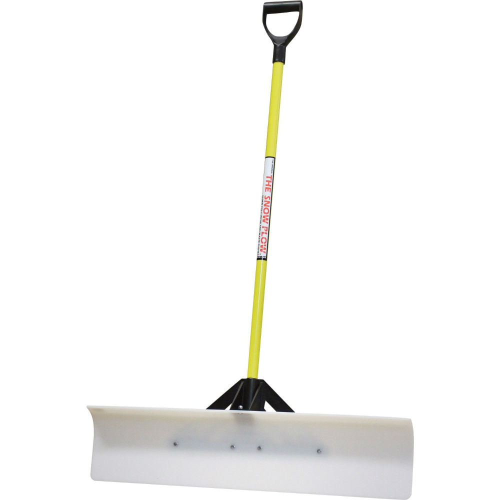"The SnowPlow 50548 Snow Pusher with 48"" UHMW Poly Blade & D-Grip Style Handle"