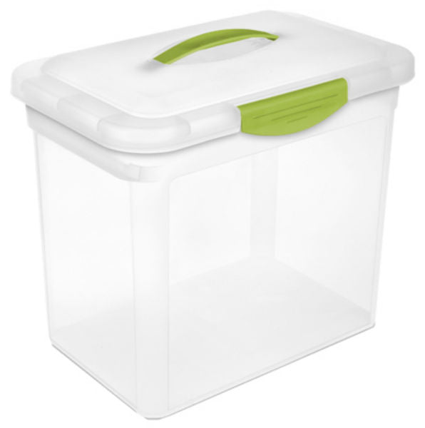 Sterilite® 18962206 Large ShowOffs™ Storage Container, See Through/Green