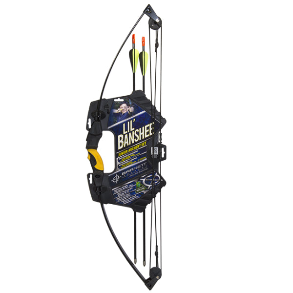Barnett™ 1072P Lil' Banshee Jr. Compound Archery Set, Black