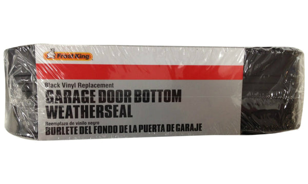 "Frost King® RV18 Vinyl Garage Door Bottom Weather Seal, Black, 2-3/4"" x 19'"