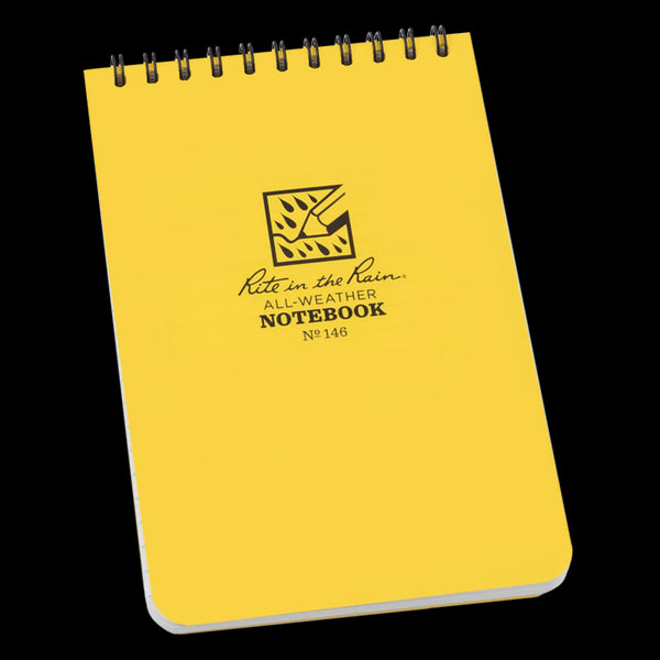 "Rite in the Rain® 146 All-Weather Top-Spiral Pocket Notebook, 4"" x 6"", 100 Pages"