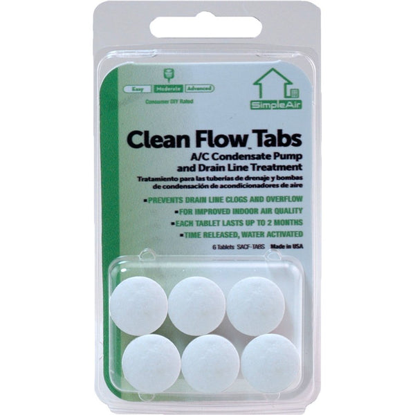 SimpleAir® SACF-TABS Clean Flow™ Tabs, 6-Pack