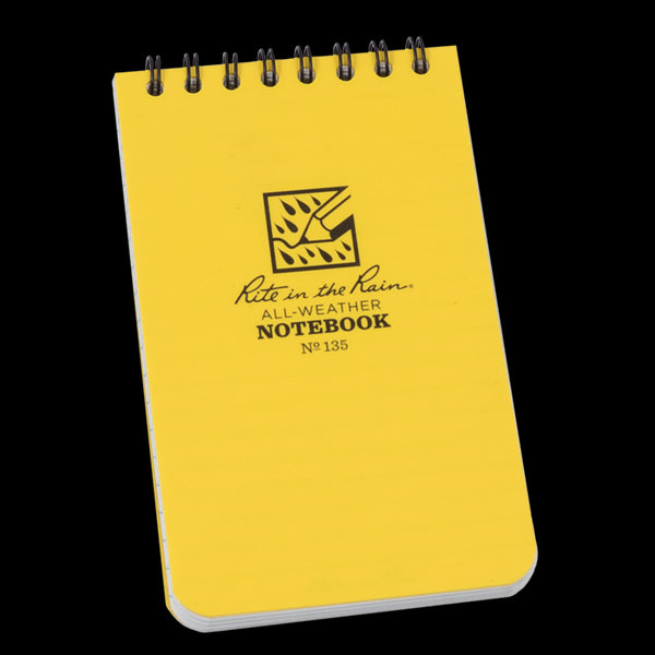 "Rite in the Rain® 135 All-Weather Top-Spiral Pocket Notebook, 3"" x 5"", 100 Pages"