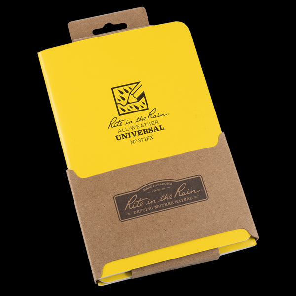 "Rite in the Rain® 371FX All-Weather Side-Stapled Notebook, 4-5/8"" x 7"", 3-Pack"