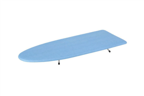 Honey-Can-Do BRD-01293 Compact Tabletop Ironing Board w/ Cover, Blue/White