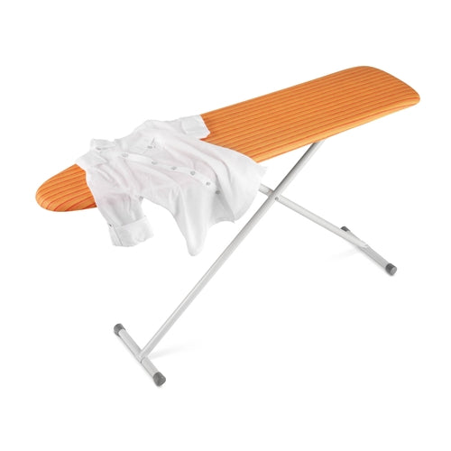 Honey-Can-Do BRD-01295 Folding Standard Ironing Board w/ Cover, Orange/White