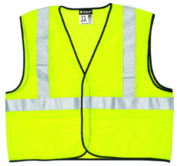 Safety Works® CVCL2MLXL Class II Mesh Safety Vest, Lime Green, X-Large