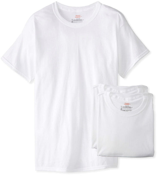 Hanes® 2135-2X Men's Tagless® ComfortSoft® Crewneck T-Shirts, White, 2XL, 3-Pack