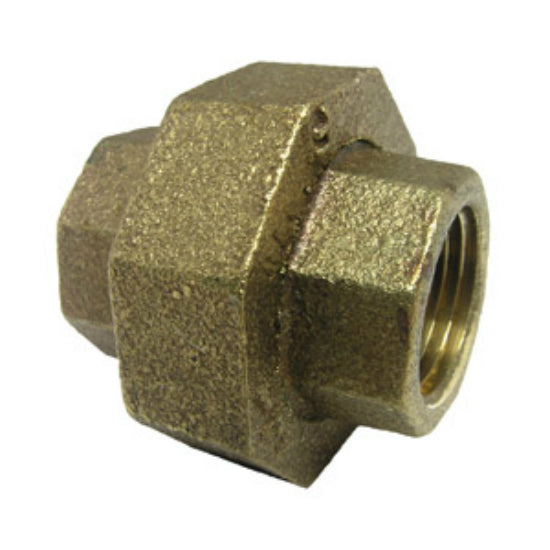 "Lasco 17-9209 Lead Free Brass Union, 1/2"" FPT x 1/2"" FPT"