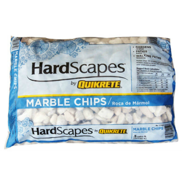Quickrete® 1175-04 HardScapes® White Marble Chips, 0.5 Cu.Ft.