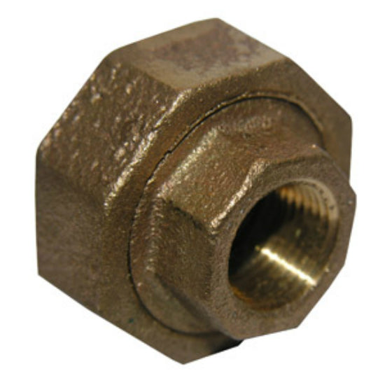 "Lasco 17-9205 Lead Free Brass Union, 1/4"" FPT"