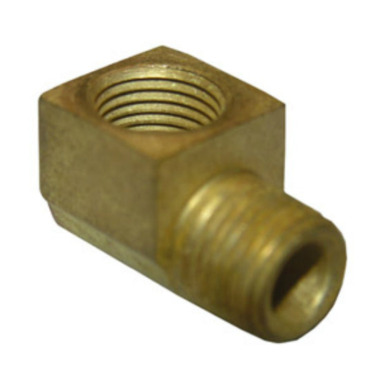 "Lasco 17-9073 Lead Free 90 Degree Brass Elbow, 1/4"" FPT x 1/4"" MPT"