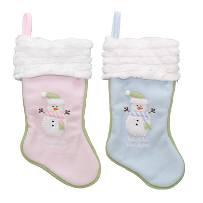 Dyno 1167475CC Plush Baby's First Christmas Stocking, Assorted Styles, 16""