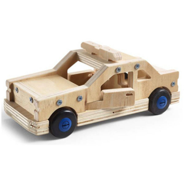 Stanley® Jr. K096-SY Wooden Police Car Carpentry Kit, Level 1, Age 8+