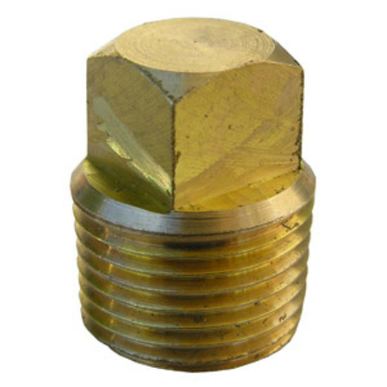"Lasco 17-9177 Lead Free Square Head Plug, Brass, 3/8"" MPT"