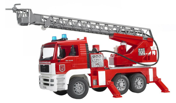 Bruder® 02771 Man Fire Engine w/ Ladder, Water Pump & Light/Sound Module Toy