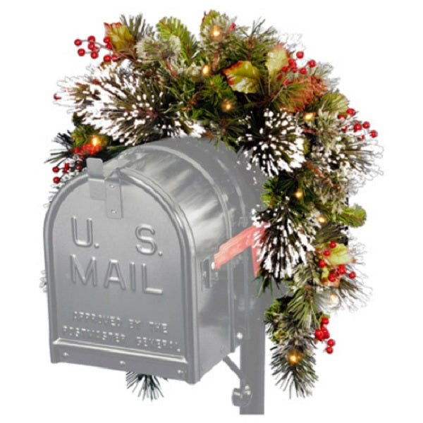 Holiday Wonderland® WP3-300-3MB-4 Wintry Pine Mail Box Artificial Swag, 3'