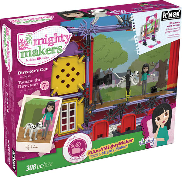 Knex® 43067 Mighty Makers® Directors's Cut Build Set, 308-Piece