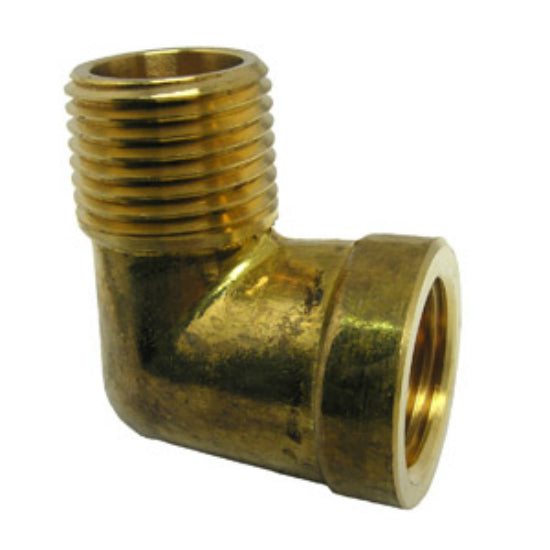 "Lasco 17-9077 Lead Free 90 Degree Brass Elbow, 1/2"" FPT x 1/2"" MPT"