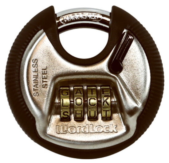 WordLock® PL074SN Resettable Combination Discus Lock with 4-Dials
