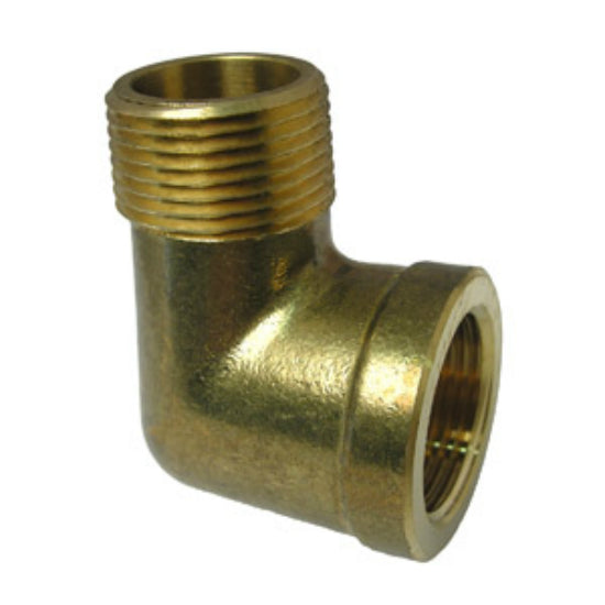 "Lasco 17-9079 Lead Free 90 Degree Brass Elbow, 3/4"" FPT x 3/4"" MPT"