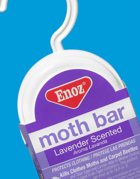 Enoz® 496.6T Moth Bar with Closet Hanger, Lavender Scent, 6 Oz