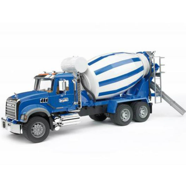 Bruder® 02814 Mack Granite Cement Mixer Toy, Scale 1:16, Age 4+