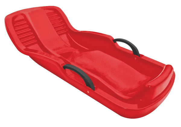 "Flexible Flyer 660 Winter Heat Kids Plastic Snow Sled with Brakes, 38"", Red"