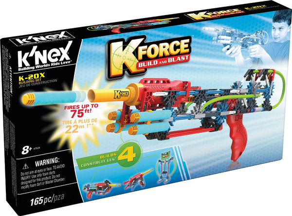 Knex® 47524 K-Force™ Build & Blast K-20X Building Set, Ages 8+