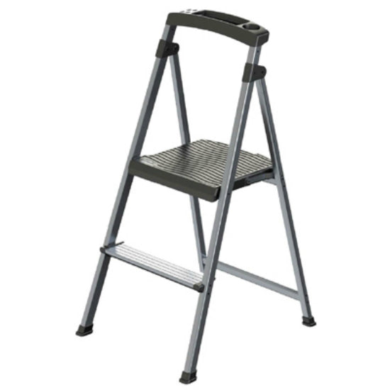 Rubbermaid® RMA-2 UltraLight Aluminum Stepstool, 2-Step, 225 Lbs Weight Capacity