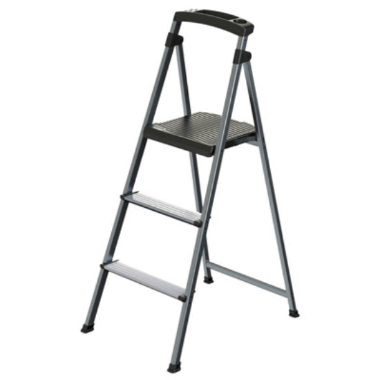 Rubbermaid® RMA-3 UltraLight Aluminum Stepstool, 3-Step, 225 Lbs Weight Capacity