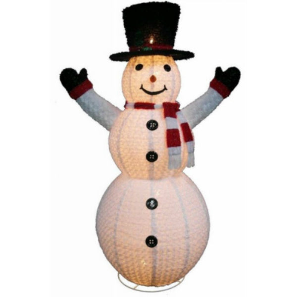 "Holiday Wonderland® 57-611-087 Christmas Chenille Top Hat Snowman 72"", 10-Light"