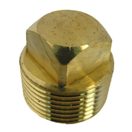 "Lasco 17-9181 Lead Free Square Head Plug, Brass, 3/4"" MPT"